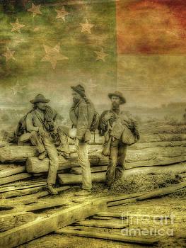Three Confederate Prisoners Civil War by Randy Steele