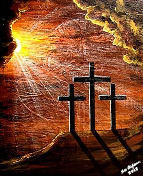 Three Crosses Jesus Christ by Teo Alfonso