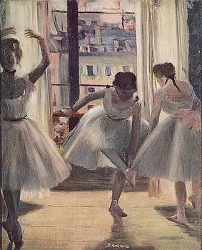 Degas - Three Dancers In An Exercise Hall