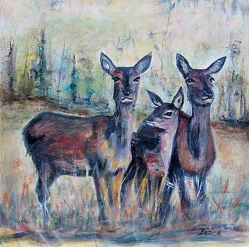 Three deer by Denice Palanuk Wilson
