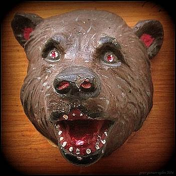 Peter Ogden - Three  Dimensional 1953 Folk Art Bear Head