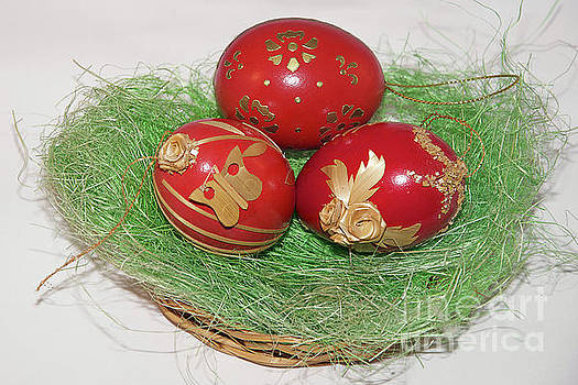 Three Easter Eggs by Elvira Ladocki