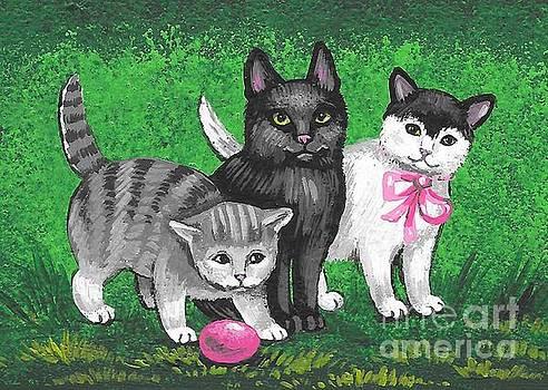 Three Easter Kitens by Margaryta Yermolayeva