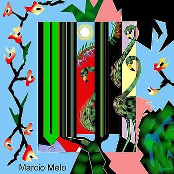 Three Flamingos by Marcio Melo