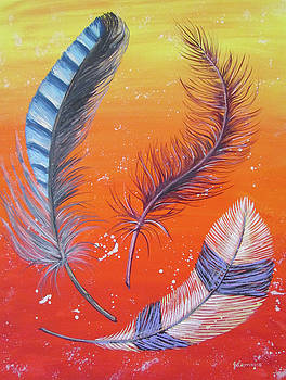 Three Feathers by Julie Lemons