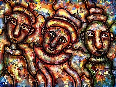 Three figures by Rafi Talby