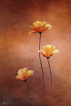 Three Flowers by Ewa Gawlik