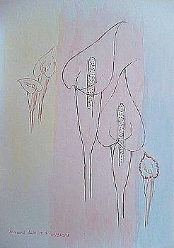 'Three' flowers by Maina  Kabiru