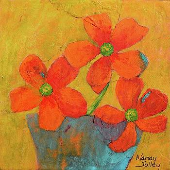 Three Flowers by Nancy Jolley