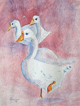 Three Geese by Gilbert Pennison