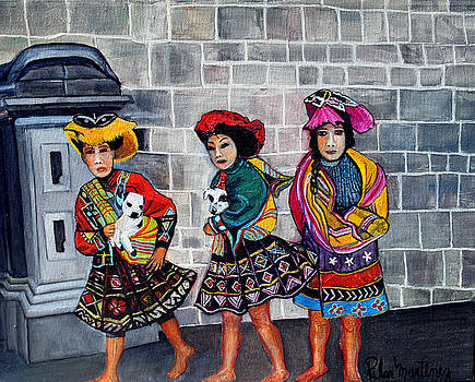 Three Girls from Cuzco by Pilar  Martinez-Byrne