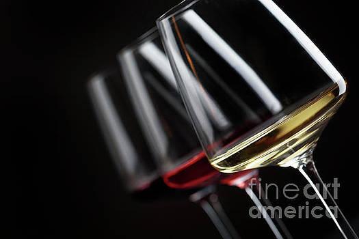 Three glass of wine by Jelena Jovanovic