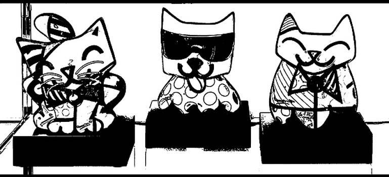 Three happy cats  by Nastja Stamenkovic