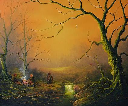 Three Hobbits A Fox And Supper by Joe  Gilronan