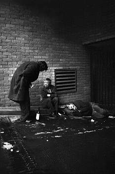 Three Homeless Men London by Alan Mogensen