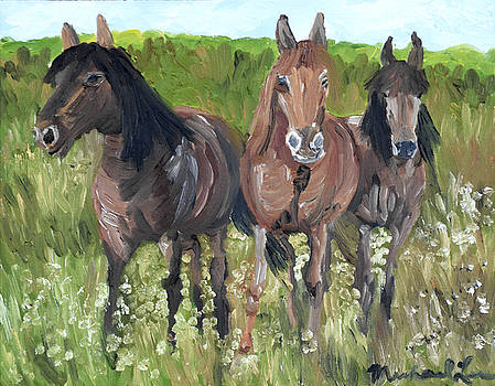 Three Horses by Michael Lee