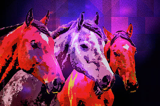 Three Horses by Mimulux patricia No