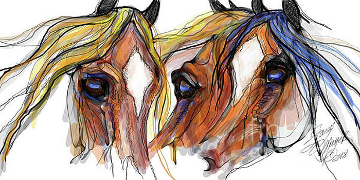 Three Horses Talking by Stacey Mayer