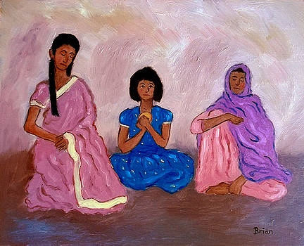 Three Indian Ladies by Brian Van der Spuy