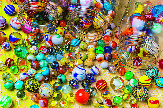 Three Jars Of Marbles by Garry Gay