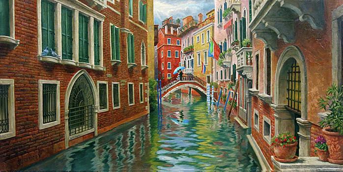 Three Kisses in Venice by Johanna Girard