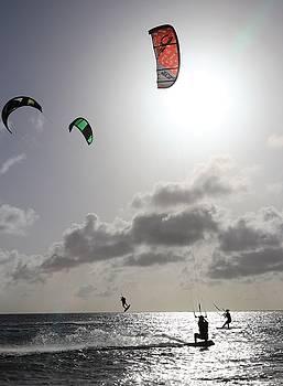 Three Kite Surfers by Jennifer Ansier