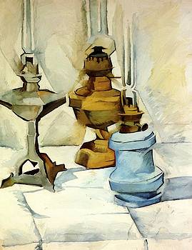 Three Lamps 1911 by Gris Juan