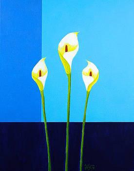 Three Lilies  by Wonju Hulse