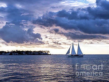 John Rizzuto - Three Masts at Sunset in Key West