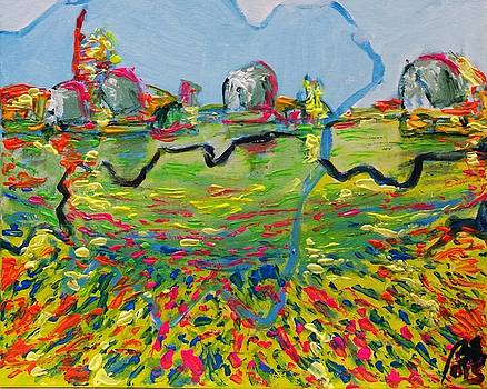 Three moments.Third moment Thames barrier by Bachmors Artist