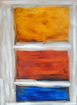 Three Muses Abstract Painting by Karla Beatty
