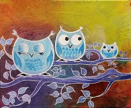 Three Owls by Shirley Lennon