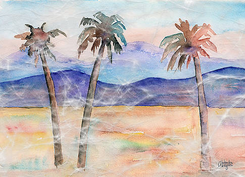 Three Palms by Arline Wagner