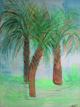 Three Palms by Jean Bourque