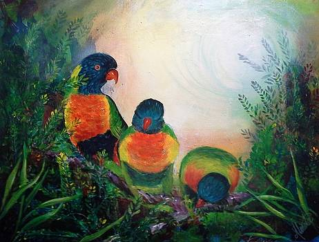 Three Parrots by Shirley Lennon