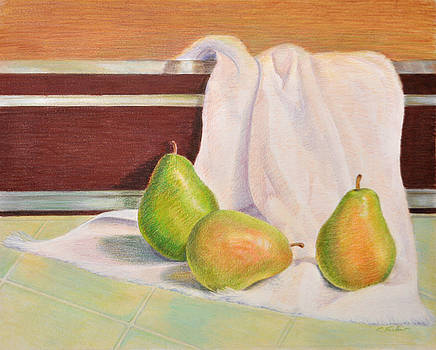 Phyllis Tarlow - Three Pears Food Still Life
