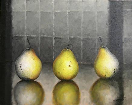 Three Pears by Matthew Martelli