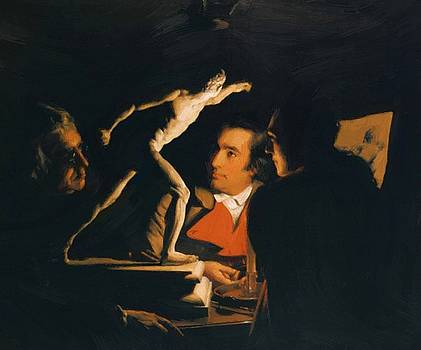 Wright Joseph - Three Persons Viewing The Gladiator By Candlelight