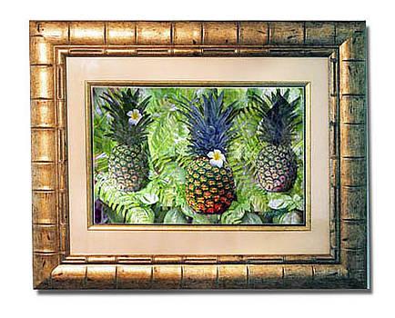Three Pineapples by Richard Nickson