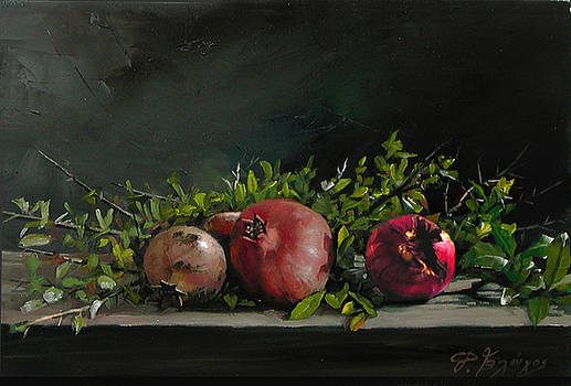 Three pomegranates by Demetrios Vlachos