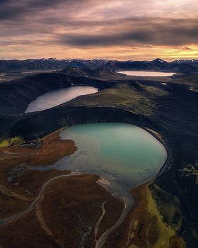 Three Ponds In A Row by Tor-Ivar Naess