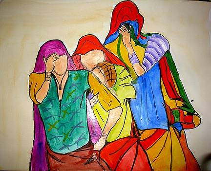 Three Rajasthani women... by Sonali Singh