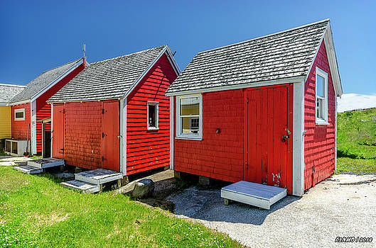Three Red Sheds by Ken Morris