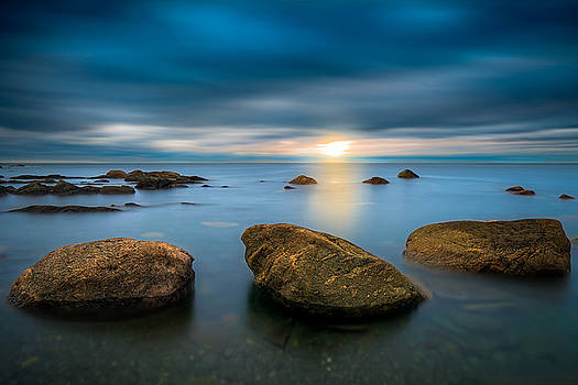 Three Rocks at Sunset by Gord Follett
