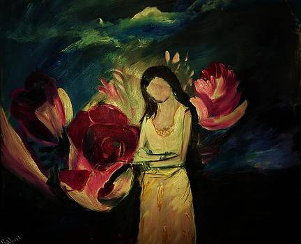 Three roses and one more by Nalini  Bhat