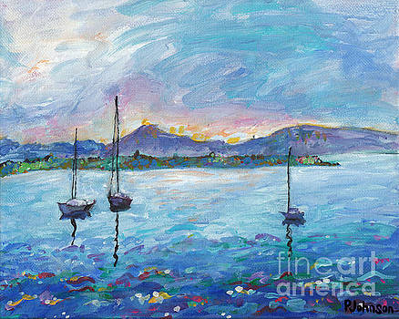 Peggy Johnson - Three Sailboats