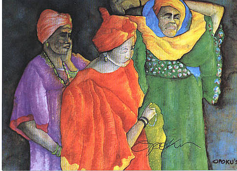 Three sisters by Opoku Acheampong