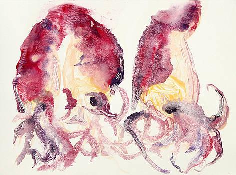 Three Squids by Michelle Fattibene