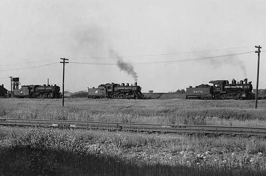 Chicago and North Western Historical Society - Three Steam Engines Around Fond du Lac