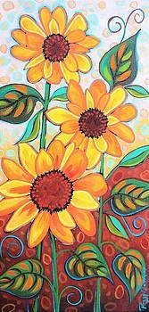 Three SunFlowers by Peggy Davis